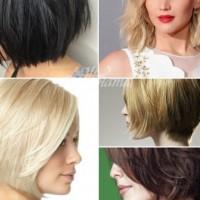 Прически боб за къса коса