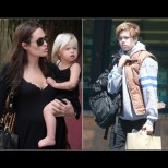 Как сладкото малко ангелче на Анджелина и Брад се превърна от русокоса кукличка в... Джон! (Снимки):