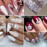 Красиви маникюри със зимни мотиви