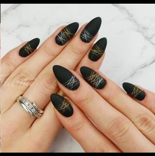 15 изтънчени и стилни идеи за паяжина в дизайна на ноктите - грациозни нежни линии за всяка форма и дължина!