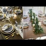 От чашите до салфетките - 28 разкошни идеи за празнична украса на масата. Звезден блясък в звездна нощ (Снимки):