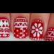 Как да си направим маникюр с коледни шарки в червено и бяло (видео)