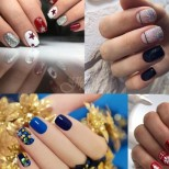 Новогодишен маникюр за къси нокти