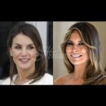 Мелания или Летисия? Две красавици, две еднакви рокли - на коя стои по-добре? (Снимки):