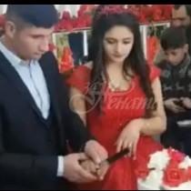 Младоженец не успя да разреже тортата както иска и стана страшно!