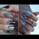Зимна приказка върху ноктите - 30 великолепни маникюра с вълшебна красота (Снимки):