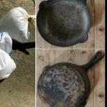 Почистване на загорял тиган за секунди само с 2 съставки от кухнята, става като нов