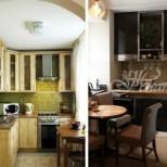 Интериорни идеи за обзавеждане на малки кухни (Галерия)