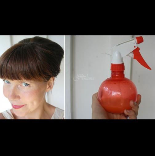 Вече не купувам лак за коса - 4 лъжички, малко вода и прическата е бетон! Безопасно и щадящо косъма: