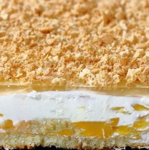 Най- лесната и бърза торта без печене с кисело мляко