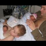 Милиони видяха снимки на малко момче, помагащо на татко да топли новородените