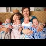 Жена роди четиризнаци на 65, въпреки, че вече имаше 13 деца и 7 внуци! Ето голямото семейство днес (Снимки):