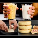 Чаша мляко, чаша настърган кашкавал и закуската е готова! Най-доброто оръжие срещу внезапен глад - пухкави, мекички и вкусни! (Видео):