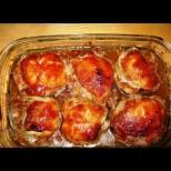 Медено пиле с фантастична коричка - пълна тава с невероятен вкус и божествено сосче:
