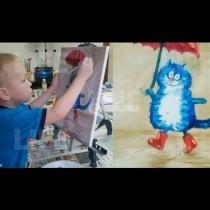 Момче продава рисунките си, за да помогне на мама да си плати ипотеката