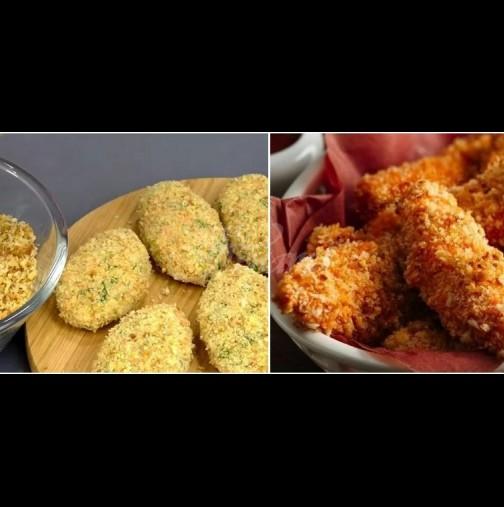 Как лесно да панираш и пиле, и рибка, без да омажеш цялата кухня и себе си: чисти чинии, чисти ръчички, вкусна гозба!