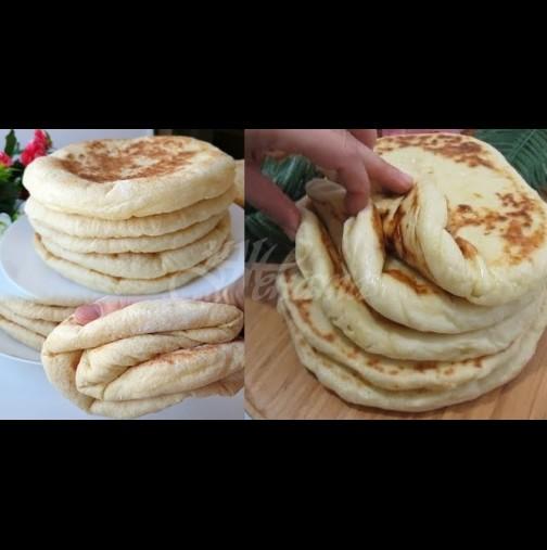 Пухени турски хлебчета на тиган - греховно вкусни и лесни като детска игра. Вадете брашното и да започваме: