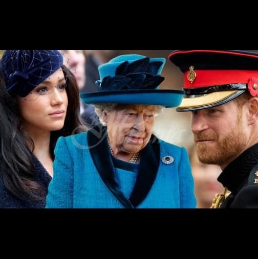 От любимия внук в персона нон грата: принц Хари в открита война с кралицата заради Меган (Снимки):