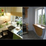 Первазът е спасението на малката кухня - 21 хитри идеи как да спечелим повече място и удобство (Снимки):