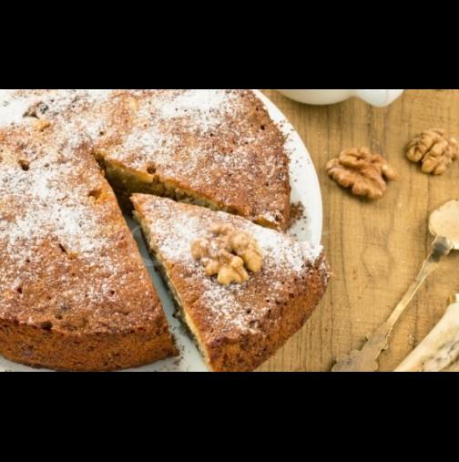 Постен сладкиш с орехи и домашно сладко - вкусотия до шия без яйца и мляко: