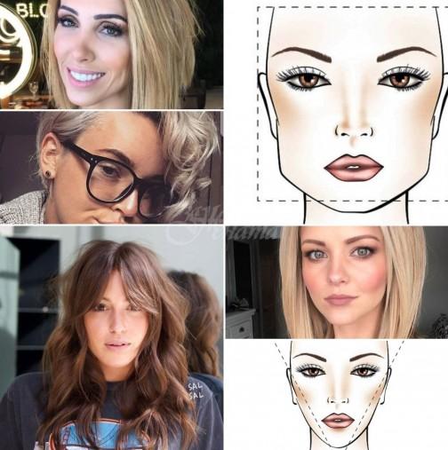 Идеална прическа за различни форми на лицето
