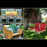 20 супер оригинални идеи за градински мебели, които всеки може да си направи сам - цветни и ярки (Снимки):