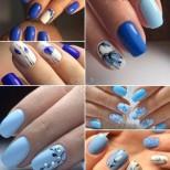 22 сини маникюра-Пролетна феерия от красота