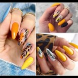 Пролетно злато - 23 ефектни и свежи маникюра с жълто за много слънчево настроение (Снимки):
