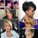 Прави прически с бретон за къса коса 2020 - хармонична комбинация