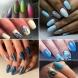 22 Елегантни маникюра в синьо и лилаво
