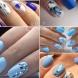 Сини маникюри снимки