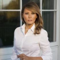Мелания Тръмп ослепителна в бяло - Първата дама с убийствено елегантна визия (Снимки):