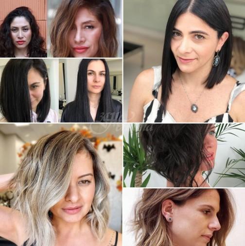 Асиметрична прическа за жени на възраст 40-50 години