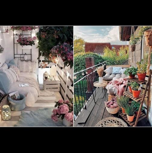 Лято на терасата - 25 големи идеи за малкия балкон. Красота и уют - няма да ти се иска да влезеш у дома! (Снимки):
