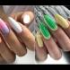 Цветни летни маникюри (Снимки):