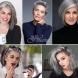 29 елегантни прически в благородно сребро (Снимки):