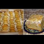 Сладкишът с праскови на Юлето - жива и здрава да е за рецептата! Става бързо, свършва още по-бързо, а колко е вкусен само: