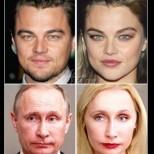 От мачо в принцеса! Най-известните мъже на планетата се превърнаха в жени с това приложение (Снимки):