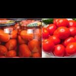 Всяка зима си хапваме пресни домати от буркани - като току-що набрани са! Супер лесно, без фризер и консерванти: