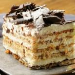 Бисквитки, мед и малко орехи и е готова без печене- най- лесната рецепта за медена торта