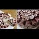 Вита торта Ескимо със сладолед шоколад - малка ледена фантазия от палачинки и крем: