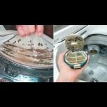 2 подправки от кухнята слагам на мястото на прахта и пералнята се чисти от всички боклуци с едно пускане