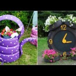Супер идейки от стари гуми за градината и двора (Снимки):