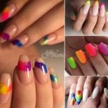 Маникюри в цветовете на дъгата (Снимки):