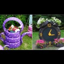 Старите гуми ще преобразят градината и двора - 19 супер свежи идеи, лесни за изпълнение (Снимки):