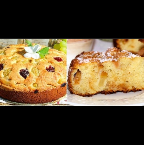 2 яйца, шепа захар и плодове, каквито ти душа иска! Бърза плодова пита с медена заливка: