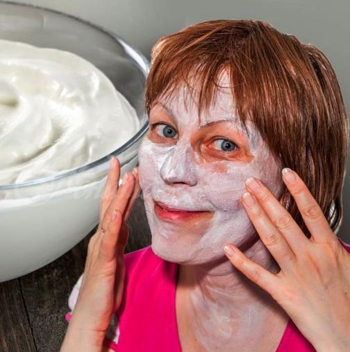 Домашна маска с кисело мляко за бързо премахване на старчески петна по лицето