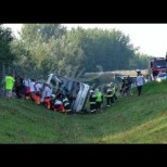 Жертви и ранени в катастрофа с автобус, пътуващ от България