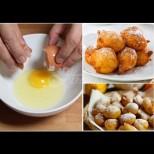 2 яйчица, половин кофичка кисело млекце и бухтичките са готови! Пълна купа, че да има за всички: