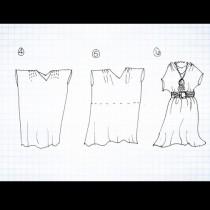 Взех 1 широка тениска и ако знаете какво спретнах от нея, сега всички ме питат откъде съм си купила тази рокля